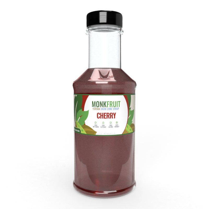 16oz Monk Fruit Syrup: Cherry