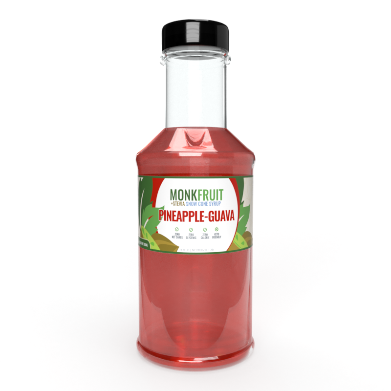 16oz Monk Fruit Syrup: Pineapple-Guava